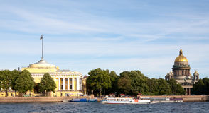 Saint Isaac's Cathedral along the waterfront Stock Image