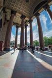 Saint Isaac`s Cathedral granite colonnade Royalty Free Stock Photo