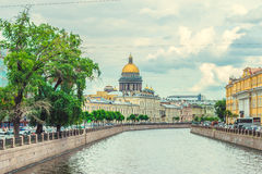 Saint Isaac's Cathedral griboedov canal Stock Photography