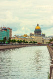 Saint Isaac's Cathedral griboedov canal Royalty Free Stock Photos