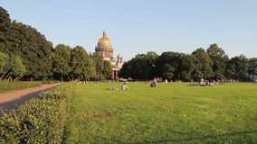 Saint Isaac's Cathedral or Isaakievskiy Sobor stock video footage