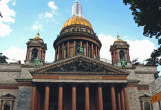 Saint Isaac`s Cathedral. Or Isaakievskiy Sobor in Saint Petersburg, Russia - June 2016 Stock Photography