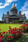 Saint Isaac`s Cathedral. Or Isaakievskiy Sobor in Saint Petersburg, Russia, is the largest Russian Orthodox cathedral in the city Stock Photography