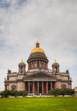 Saint Isaac's Cathedral (Isaakievskiy Sobor) in Saint Petersburg. Russia in the morning Royalty Free Stock Images