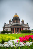 Saint Isaac's Cathedral (Isaakievskiy Sobor) in Saint Petersburg. Russia in the morning Royalty Free Stock Photo