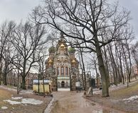 Saint Isaac`s Cathedral or Isaakievskiy Sobor in Saint Petersburg, Russia is the largest Russian Orthodox cathedral. Sobor in the city. It is the largest Stock Photography