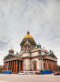 Saint Isaac's Cathedral (Isaakievskiy Sobor) in Saint Petersburg. Russia in the morning Stock Image
