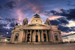 Saint Isaac`s Cathedral or Isaakievskiy Sobor in St. Petersburg. During the White Nights, Russia Royalty Free Stock Photography