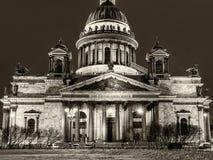 Saint Isaac`s Cathedral landmark Petersburg night Stock Images