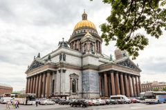 Saint Isaac`s cathedral the largest Russian orthodox cathedral in Saint Petersburg, Russia. royalty free stock photography