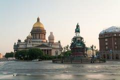Saint Isaac's Cathedral And Nicolas Royalty Free Stock Photo