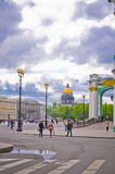 Saint Isaac's cathedral from the Palace square in Saint Petersb Royalty Free Stock Image