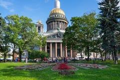 Saint Isaac`s Cathedral. SAINT- PETERSBURG, RUSSIA - JULY 10, 2016: Saint Isaac`s Cathedral or Isaakievskiy Sobor in Saint Petersburg, Russia, is the largest Royalty Free Stock Photo