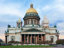 Saint Isaac's Cathedral in Saint-Petersburg Royalty Free Stock Photos