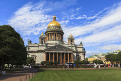 Saint Isaac's Cathedral in Saint Petersburg Royalty Free Stock Photo