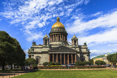 Saint Isaac's Cathedral in Saint Petersburg. This photo was taken in Saint Petersburg, Russia. Saint Isaac's CathИсedral or Isaakievskiy Sobor Stock Image