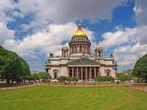 Saint Isaac's Cathedral in Saint-Petersburg Stock Image
