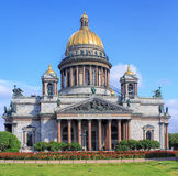 Saint Isaac's Cathedral in Saint Petersburg Stock Images