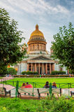 Saint Isaac's Cathedral in Saint Petersburg Stock Photos