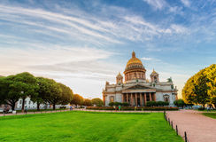 Saint Isaac's Cathedral in Saint Petersburg Royalty Free Stock Photos