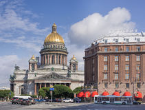 Saint Isaacs Cathedral in Saint Petersburg Stock Photos