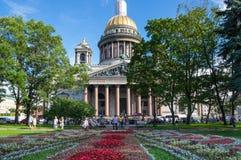 Saint Isaac`s Cathedral. SAINT- PETERSBURG, RUSSIA - JULY 10, 2016: Saint Isaac`s Cathedral or Isaakievskiy Sobor in Saint Petersburg, Russia, is the largest Stock Photo