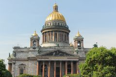 Saint Isaac`s Cathedral - Saint Petersburg, Russia Stock Photo