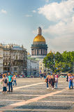 Saint Isaac's Cathedral seen from Palace Square, St. Petersburg, Royalty Free Stock Photography