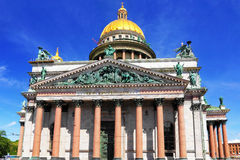 Saint Isaac's Cathedral in St Petersburg, Russia Stock Photo