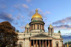 Saint Isaac's Cathedral in St. Petersburg Stock Images