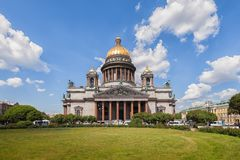 Saint Isaac's Cathedral in St. Petersburg Stock Photos
