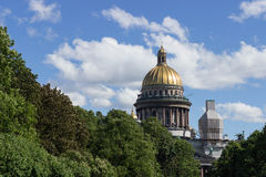 Saint Isaac's Cathedral in St. Petersburg Stock Photo