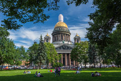Saint Isaac`s Cathedral in St. Petersburg, Russia Royalty Free Stock Photos