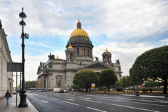 Saint Isaac's Cathedral in St.Petersburg Stock Photography