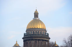 Saint Isaac's Cathedral in St.Petersburg. Stock Images