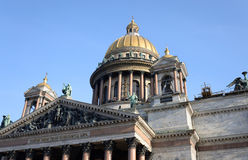 Saint Isaac's Cathedral in St.Petersburg. Royalty Free Stock Photo