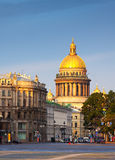 Saint Isaac's Cathedral in summer Royalty Free Stock Photography