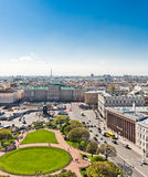 Saint Isaac's square and the Monument to Nicholas I in S Stock Images