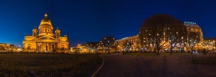 Saint Isaac`s Square. SAINT- PETERSBURG, RUSSIA - DECEMBER 27, 2015: Saint Isaac`s Square or Isaakiyevskaya Ploshchad in Saint Petersburg, Russia is a major city Royalty Free Stock Photo