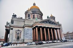 Saint Isaacs Cathedral in Saint Petersburg, Russia. royalty free stock images