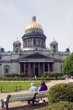 Saint Isaak cathedral in Saint-Petersburg city, Russia. Royalty Free Stock Photo