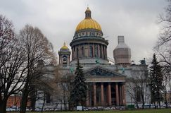 Saint Isaak church in Saint-Petersburg, Russia. Royalty Free Stock Photo
