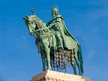 Saint Istvan statue. Budapest, Hungary royalty free stock photography