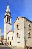 Saint Ivan Church in Budva. Saint Ivan Church in old town of Budva, Montenegro stock photo