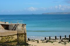 Saint Ives beach and bay, Cornwall, England Royalty Free Stock Images