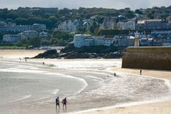 Saint Ives beach and bay, Cornwall, England Royalty Free Stock Photo