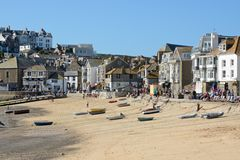 Saint Ives beach and town, Cornwall, England Royalty Free Stock Photography