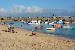 Saint Ives harbour, Cornwall, England Royalty Free Stock Photography