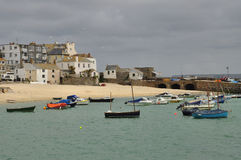 Saint Ives old harbour, Cornwall, England, UK stock photography