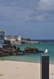 Saint Ives sand beach and old port, Cornwall, England, UK Royalty Free Stock Photo